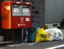 Yellow plastic bags in use in Tokyo's Suginami Ward. Crows can't see what's inside.