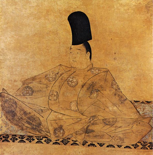 後鳥羽天皇像。鎌倉から南北朝期に描かれたこのような写実的な肖像画は「似絵(にせえ)」と呼ばれる。